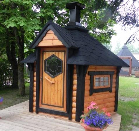 garden hut. 4.5m Kota BBQ Grill Hut Garden