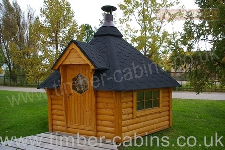 Kota Log Cabin Barbecue Bbq Cabins Grills