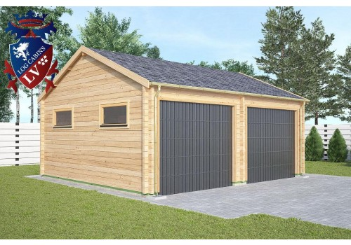 The dublin double garage log cabin for Garage cabins